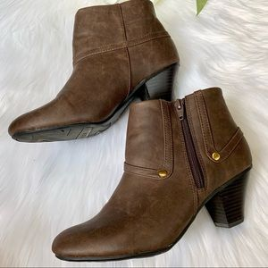 Life Stride | Brown Booties Comfort Stride